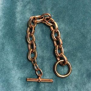 Rose gold Michael Kors chain bracelet